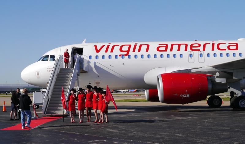 Virgin America parked one of its planes at Love Field friday to announce a deal to take over two gates.