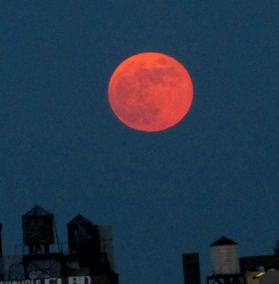 A look at an earlier blood moon over New York City.