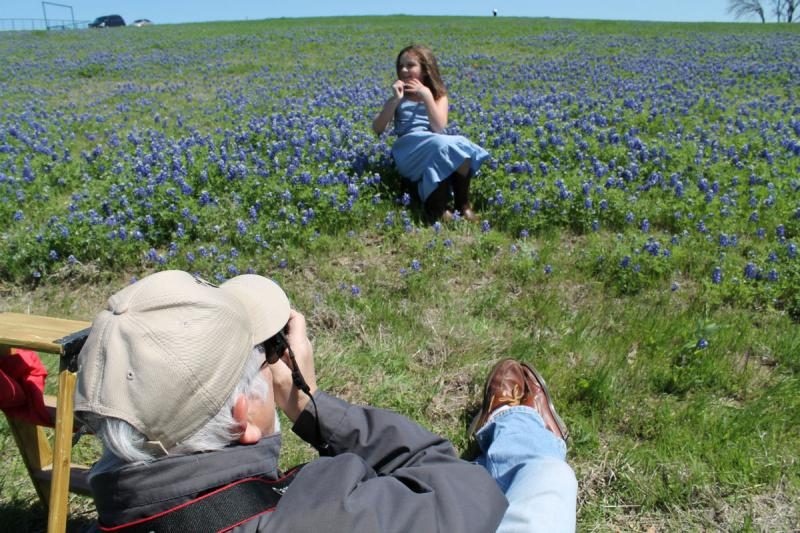 Jim Terry took pictures of his granddaughter, Natalie Ball, in a bluebonnet field in Ennis.
