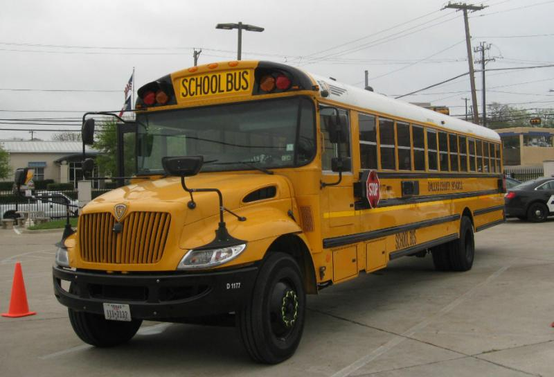 The Dallas County Schools' prototype bus is retrofitted with cameras, a GPS tracker, thumbprint ID scanner, seat belts and more.