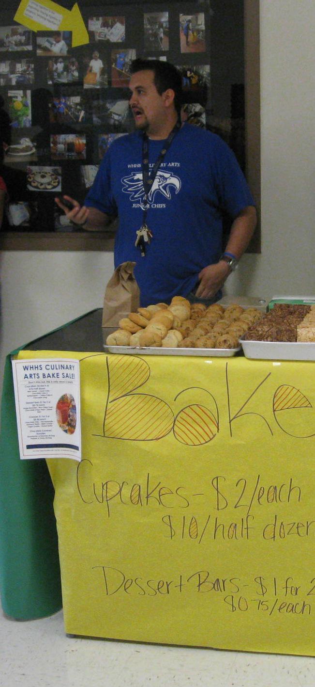 Chef Adam Bazaldua, culinary arts instructor at Wilmer-Hutchins High School.