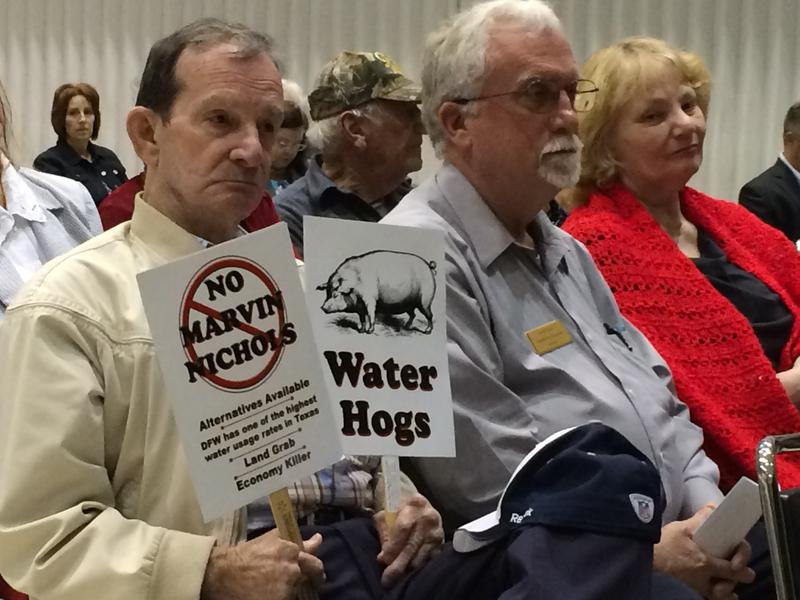 Last year, East Texans opposed to the Marvin Nichols Reservoir testified before the Texas Water Development Board.