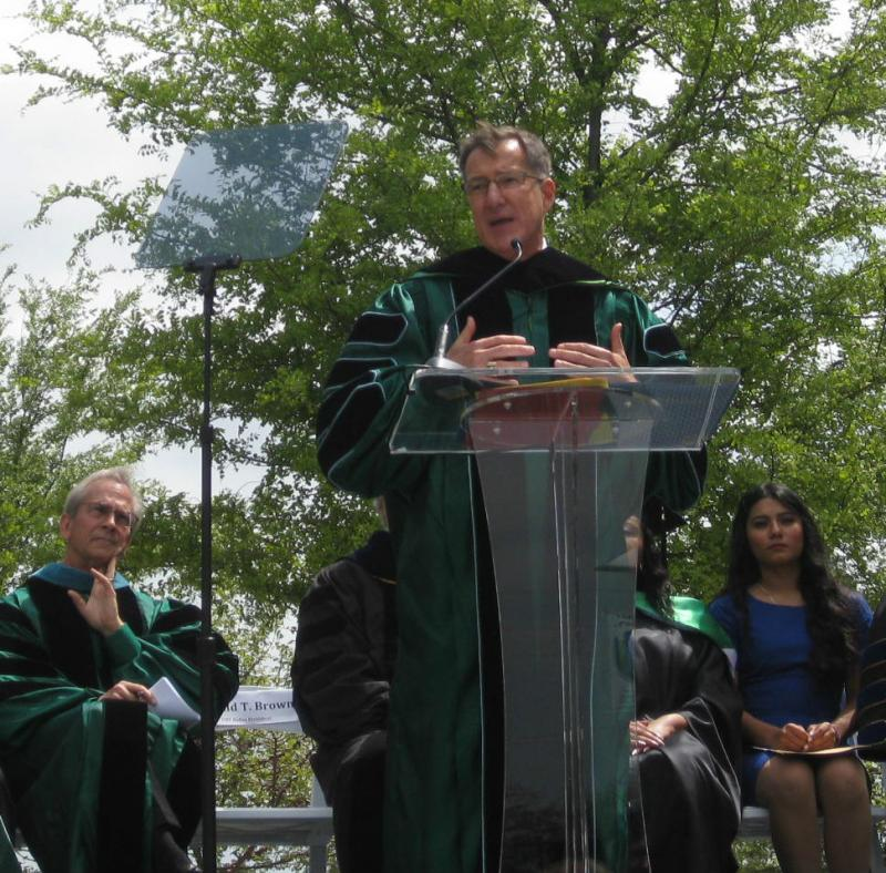 New UNT-Dallas President Ronald Brown gave his inaugural address Friday on the South Dallas campus.