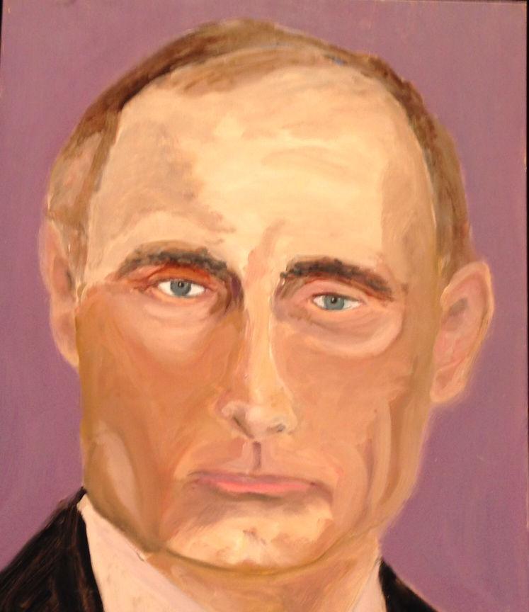 President Bush's portrait of Vladimir Putin, the Russian president.