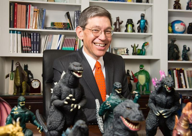 Bill Tsutsui is the outgoing dean of SMU's Dedman College, and the new president of Hendrix College in Conway, Arkansas. But he's most famous for his books on Godzilla.