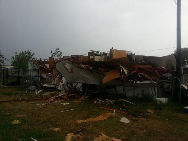 This damage was reported west of Joshua.