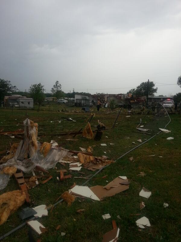 Debris from the storm in Johnson County.