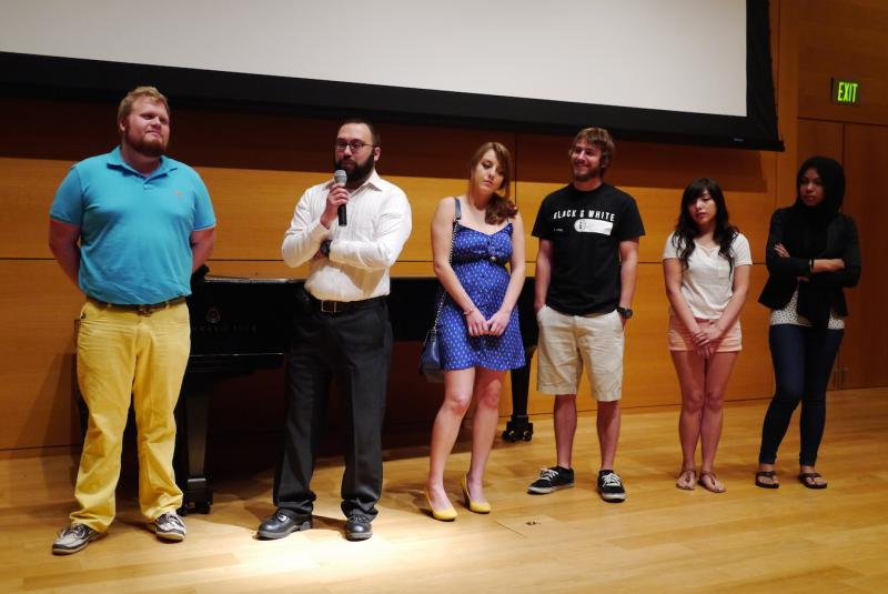 UTA film-makers answer questions from the audience at the Modern Art Museum of Fort Worth.