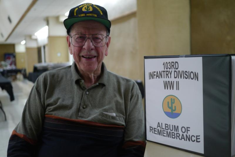 "Luke Martin is known to World War II veterans as the ""historian"" because he collects stories from those who served in the 103rd Infantry Division."