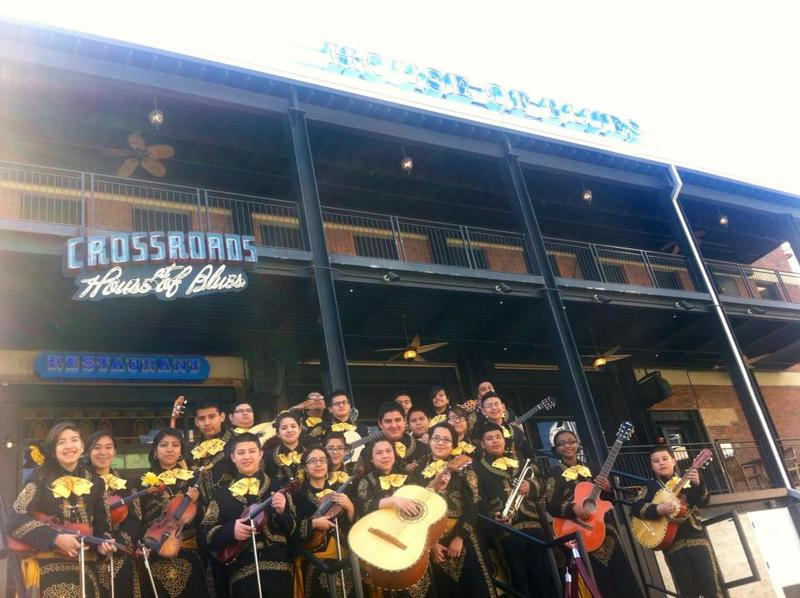 Members of Greiner Middle School's Mariachi Los Unicos outside The House of Blues.