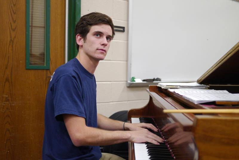 Senior Raymond Teer practices ahead of fierce competition at the annual jazz competition in New York City.