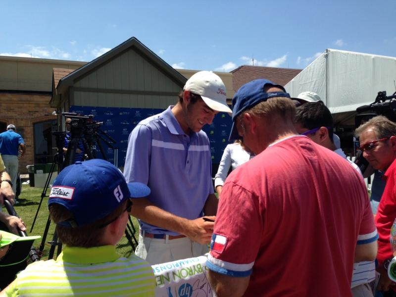 Highland Park Senior Scotie Sheffler drew a big crowd at the Byron Nelson on Sunday. He finished the tournament tied for 22nd.