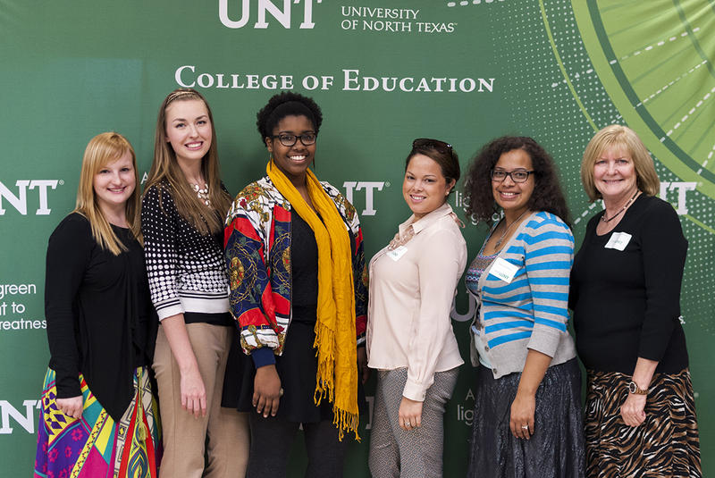 These UNT students spent six weeks teaching in Seville, Spain. From left: Rebecca McGuire, Katie Evans, Sequoyah Johnson, Brittany Wise, Marysia McMillian and Dr. Lisbeth Dixon-Krauss, associate dean at UNT's College of Education.