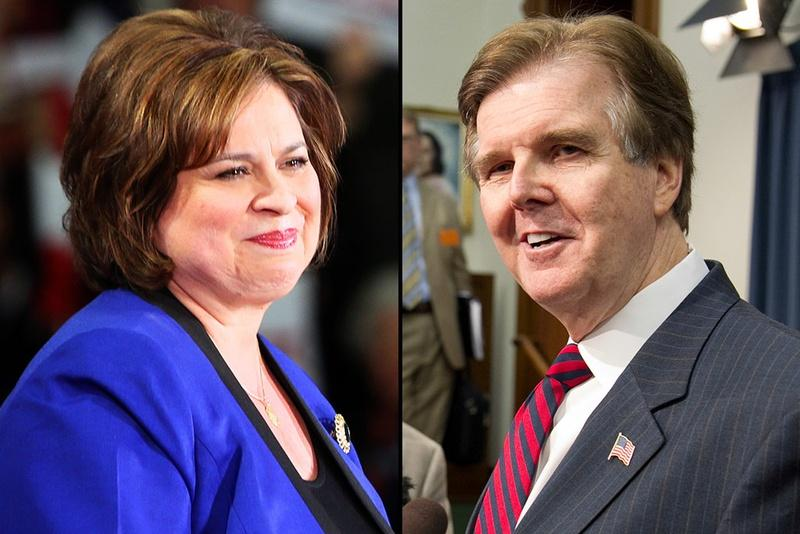 Leticia Van de Putte and Dan Patrick will face off in November for Texas lieutenant governor.
