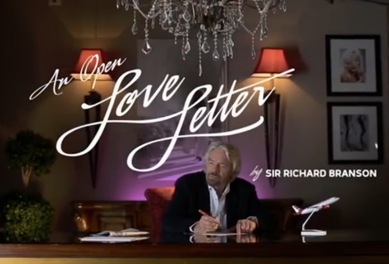 In this YouTube video, Sir Richard Branson pens a love letter to Dallas Love Field.