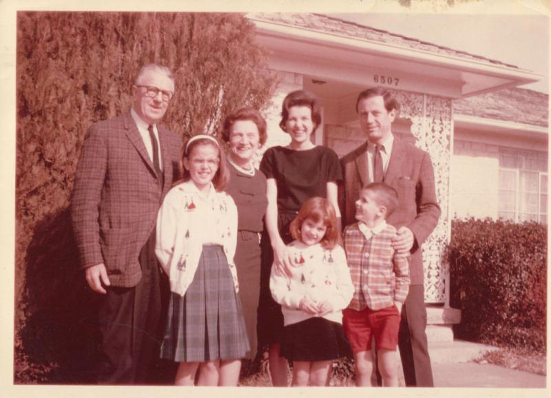 Courtney Sands, center, gathered with her family outside her Dallas home in the 1960s. About 50 years later, she fell and fractured her hip -- and she had no desire to leave her beloved home.
