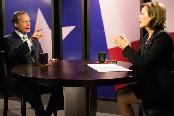 Lt. Governor David Dewhurst talks with Shelley Kofler in KERA's studio. The interview was done earlier this month, before documents were released about the mental health treatment his opponent, Dan Patrick, received nearly 30 years ago.