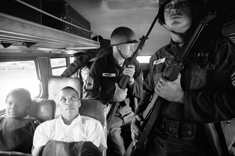 Freedom Riders Julia Aaron, left, and David Dennis were among the Freedom Riders who paved the way for Freedom Summer student volunteers. Pictured here in 1961, Dennis would eulogize activist James Chaney three years later.