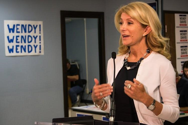 Gubernatorial candidate Wendy Davis spoke to the media in Dallas Tuesday afternoon.