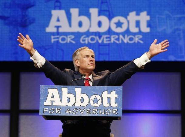 Greg Abbott addressed Texas GOP delegates Friday in Fort Worth.