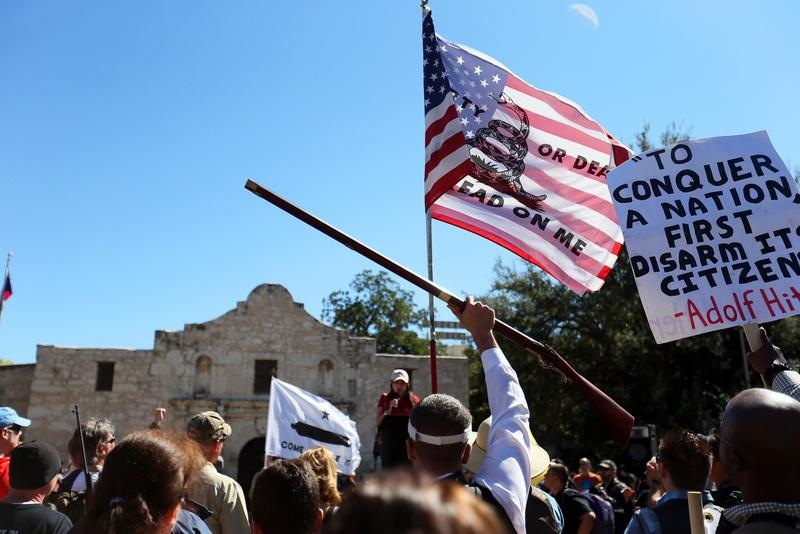 More than 1,000 people turned out at a gun rights rally in San Antonio last fall.