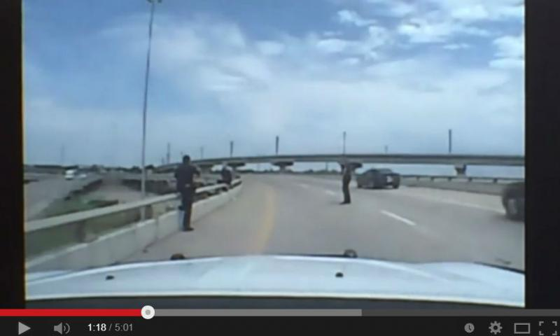 Dallas police posted a dash-cam video of officers saving a man who wanted to jump off a bridge.