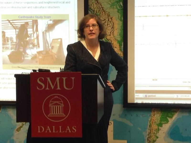 Heather DeShon leads an SMU research team looking into what's causing the earthquakes in and around Azle and Reno, which are northwest of Fort Worth.