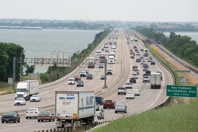 Traffic is often congested on Interstate 30 on the eastern side of Lake Ray Hubbard in Rockwall. A proposed private tollway running between Greenville and Wylie looks to relieve that congestion.