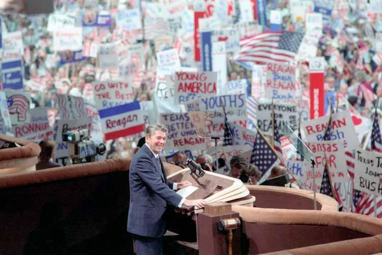 President Reagan at the 1984 Republican National Convention in Dallas.