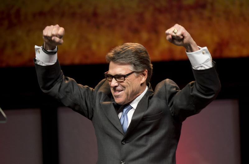 Gov. Rick Perry gave a farewell speech at the Texas Republican Convention in Fort Worth on Thursday.
