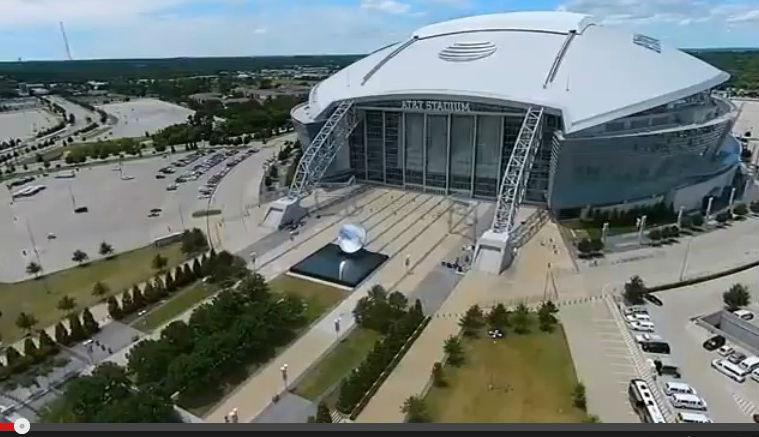 A man used a second drone to try to find a drone he lost on top of AT&T Stadium.