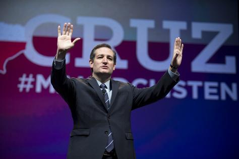 U.S. Sen. Ted Cruz called Monday for amending the U.S. Constitution to prevent either the federal government or the U.S. Supreme Court from overturning a state's ban on same-sex marriage.