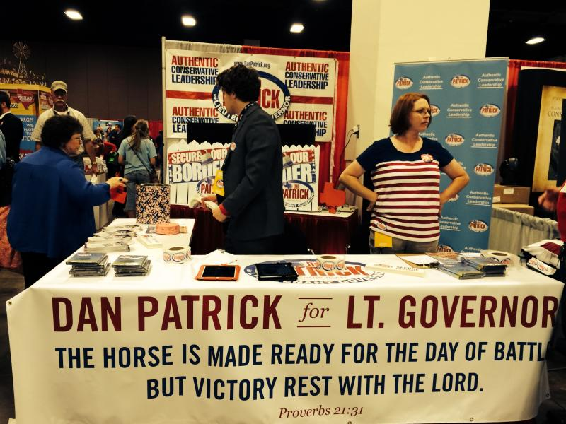 A table for Dan Patrick, the lieutenant governor candidate.