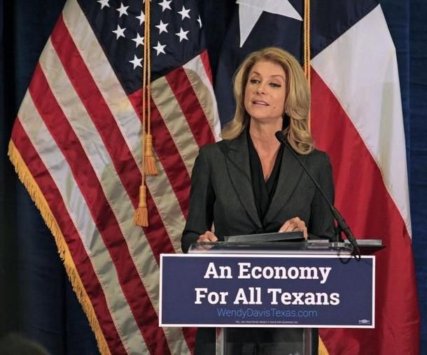 Wendy Davis, the Democratic nominee for Texas governor, talked about her economic plan on Tuesday.