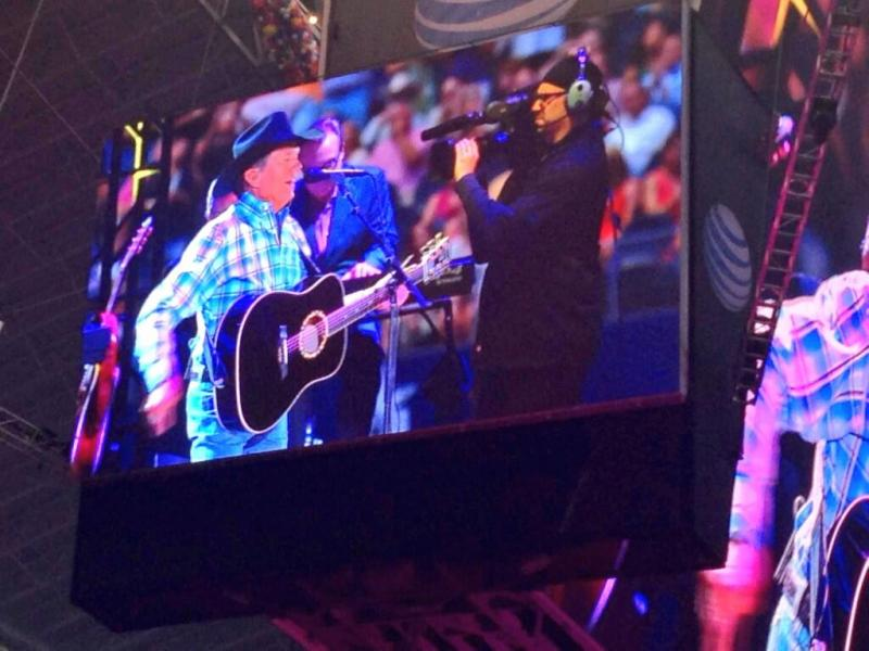 For some of the 105,000 fans at AT&T Stadium, the best way to see George Strait was on the huge video board.