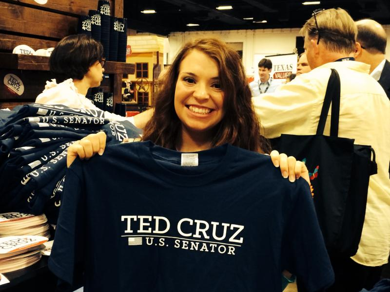 A supporter of U.S. Sen. Ted Cruz of Texas.