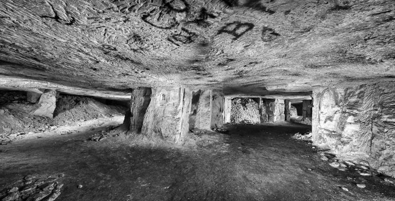 Former underground city beneath the trenches, taken on March 11, 2013 in Picardy, France.
