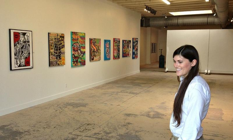 Rachel Nash in her Deep Ellum photo gallery.