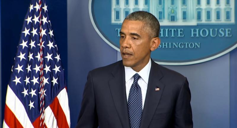 President Obama announces sanctions against Russia on Wednesday.