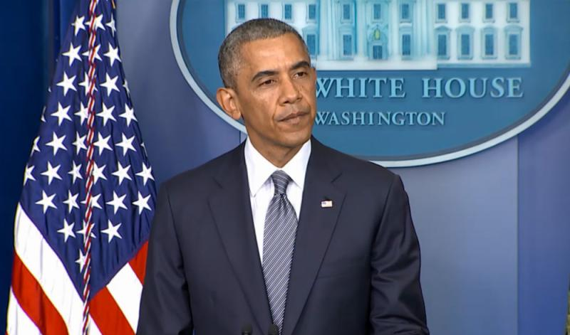 President Obama addressing the Malaysia Airlines flight crash. Everyone on board died, including one American.