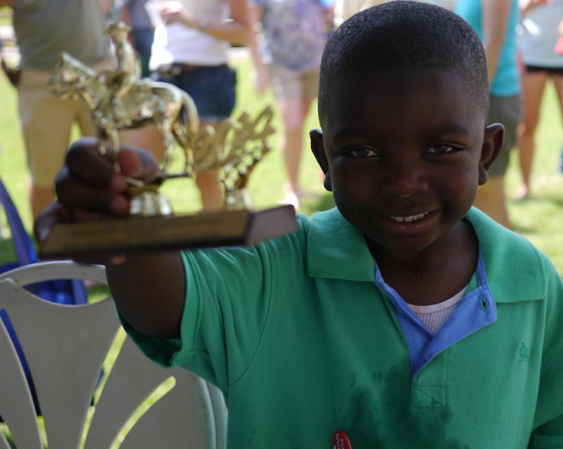 Maquesta Brown, 6, of Fort Worth, won the first of many Watermelon Eating Contests.
