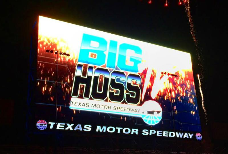 Big hoss the world s biggest tv screen transforms into for Texas motor speedway schedule this weekend