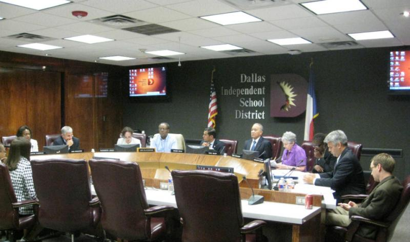 The DISD school board back in session at 3:15 a.m. Tuesday.
