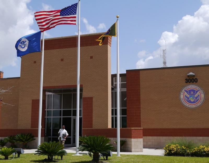 This is one of the detention facilities in McAllen that's housing immigrant children from South America.
