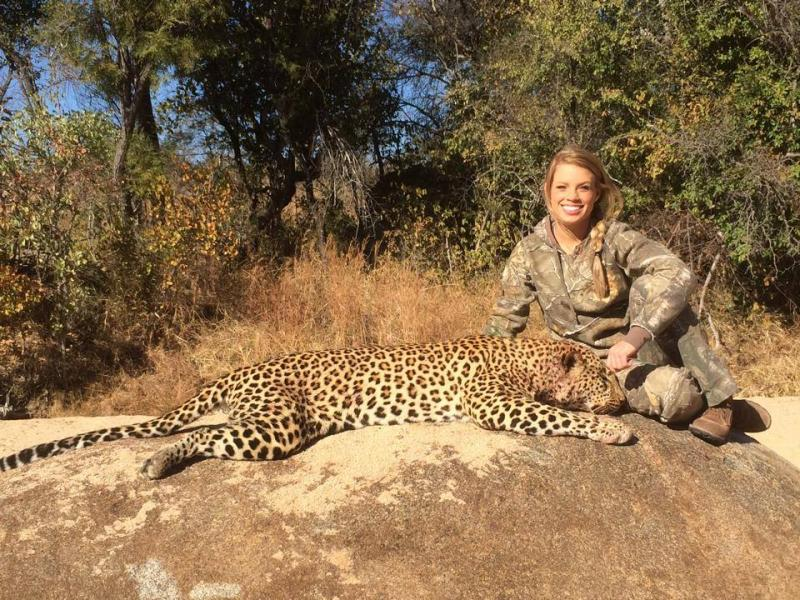 Kendall Jones of Cleburne has been hunting animals in Africa and posing with them.