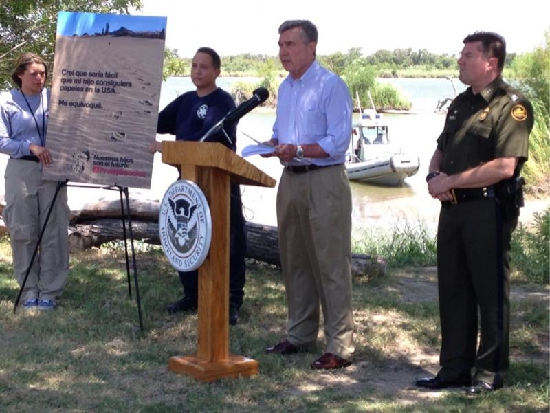 Gil Kerlikowske, U.S. Customs and Border Protection commissioner, spoke at a press conference Wednesday in McAllen.