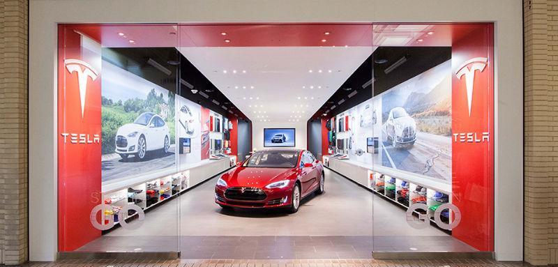 Tesla's NorthPark store.