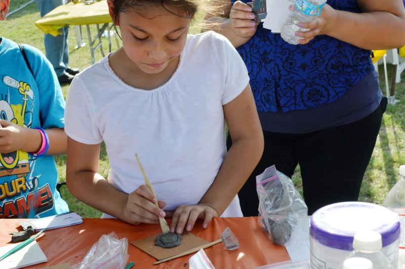 Sculpting is one of the many activities available for children at Turn Up! in Fair Oaks Park.
