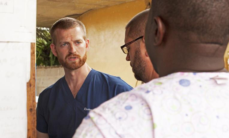 Kent Brantly, the Fort Worth-trained doctor who contracted the Ebola virus, says he relied on his faith to get through uncertain times.
