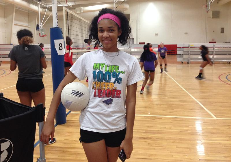 Phantasia Chavers has been practicing her volleyball skills this summer. This week, she's trying out for the Cedar Hill JV girls volleyball team.
